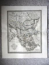CARTE GEOGRAPHIQUE 19e - CARTE TURQUIE D'EUROPE ET DE LA GRECE PAR VIVIEN 1834