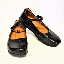 NEW Kalso Earth Solar Too 9.5M Mary Jane Shoes Black Leather Negative Heel Studs