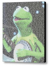 Kermit The Frog Rainbow Connection Song Lyrics Mosaic Framed Limited Edition