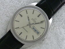 VINTAGE LARGE OMEGA SEAMASTER AUTOMATIC 36.5MM Steel Day & Date Swiss Watch