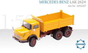 Conrad 1051-07 Mercedes Benz LAK 2624 Round Bonnet Dump Truck 1/50 MIB