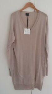 New With Tags Little Joe NY Silk Cotton Knit Dress Longline Top Size M Mink