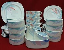 NORITAKE china FLORIDA 958 pattern 53-piece SET SERVICE dinner salad cereal cup