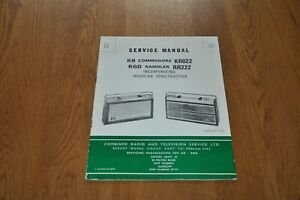 KB Commodore KR022 RGD Rambler RR222 Radio Genuine Service Manual.
