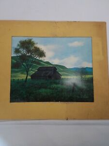 "Harold Shelton - Minimalist Artist - Nature Scenes -  Auction Name: ""Farm House"""