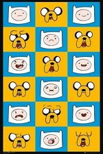 ADVENTURE TIME ~ EXPRESSIONS QUILT ~ 24x36 POSTER ~ GAMES 24x36