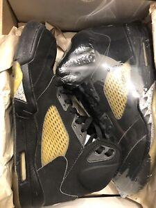 Nike Air Jordan 5 Black Metallic Silver 2000 Size 9.5 Retro V