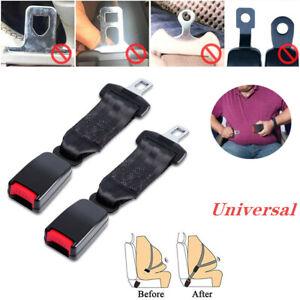 2X 36cm Black Car Seat Seatbelt Safety Belt Extender Extension Buckle Universal