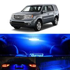 2009-2014 Honda Pilot Blue LED Lights Bulb 5050 SMD Interior Kit QTY = 17pieces