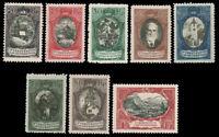 Liechtenstein 1921 SCENIC GROUP MINT #62-69 incl. 8 stamps LH CV$280.50