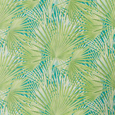 Palm Tree Inspired Wallpaper Exotic Tropical Vinyl Teal Green Floral Flowers