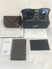 New Authentic PERSOL Polarized Steve McQueen 714 Folding Sunglasses Black 52mm