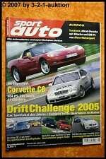 Sport Auto 8/05 Corvette C6 Nissan 350 Z Mazda RX-8