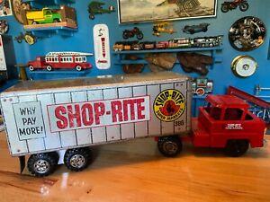 Vintage 1950's-60's MARX Shop-Rite Tractor Trailer Truck #386