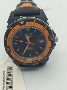 Sector Watch 101 Expander Black And Orange