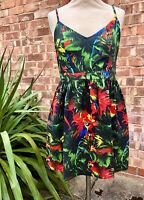 Love Moschino Parrot Summer Dress, UK Size 12