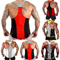 Gym Men Muscle Sleeveless Tank Top Tee Shirt Bodybuilding SportS Fitness Vest