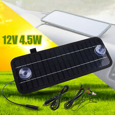 12V 4.5W Power Solar Panel Battery Charger Portable For Car Boat Motorcycle