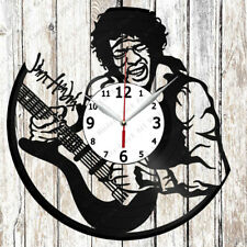 Jimi Hendrix Vinyl Wall Clock Made of Vinyl Record Original gift 2635