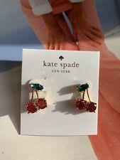BN Kate Spade Red Pole Cherry Stud Earrings