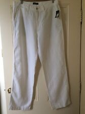 Brand New, With Tags, Nautica Mens White Linen Classic Fit Pants Size 34 / 32 L