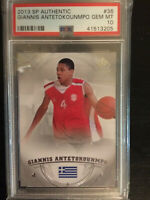2013 sp authentic Giannis Antetokounmpo ROOKIE Card RC #36 PSA 10 GEM MINT HOF?