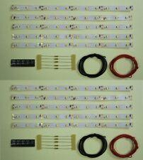 S543 - 10 Stück LED Waggonbeleuchtung 200mm weiß analog + digital Bausatz