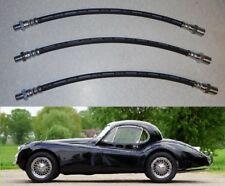 (x3) JAGUAR XK120 XK140    Front & Rear Brake Hose Hoses Pipes Set    (1948- 57)