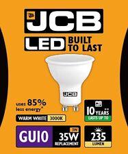 10x JCB 3w LED GU10 Ampoule réflecteur 100° 3000k blanc chaud 235lm (s10961)