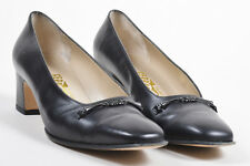 VINTAGE Salvatore Ferragamo Boutique  Black Leather Cosenza Pumps SZ 8B