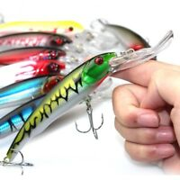 Wobbler Fishing Lure Crankbait Bait Minnow For Bass Pike Trolling Deep Diving