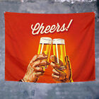 Cheers! Beer Banner Wall Art Bar Wine Cellar Cafe Home Decoration Hanging Flag photo