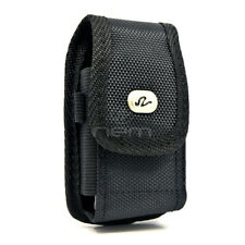 Black Vertical Heavy Duty Rugged Cover Belt Clip Case Pouch For Alcatel Go Flip