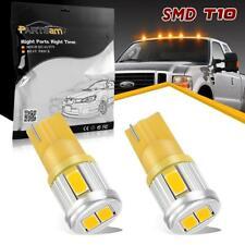 2X 194 2825 168 T10 Amber 5730-SMD Led Parking Stop Light