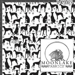 Greyhound Silhouette, 100% Cotton 130gsm Poplin * Exclusive *