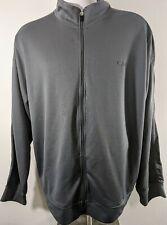 Mens Champion sport full zip 2 pocket gray jacket coat lightweight outerwear XXL