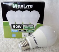1-96 Maxlite LED A19 Light Bulb 9W 60W Replacement 5000K 800 Lumen LAST 13 YEARS