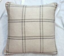"laura  Ashley Cushion Cover     Fabric  corby check  amethyst     16"" piped"