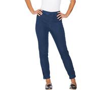 Isaac Mizrahi Live! Regular 24/7 Denim Ankle Jeans w/ Zips Medium Indigo, Reg 4