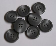 Pack of 10 Grey / Gray Mock Horn 25mm 4 Hole Button         0043