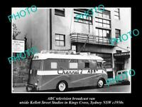 OLD POSTCARD SIZE PHOTO OF ABC TV VAN AUSTRALIAN BROADCASTING COMMISION 1950s