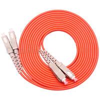 10m SC UPC-SC UPC Duplex 50/125 OM2 Multimode Fiber Optic Patch Cord Fiber Cable