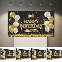 11Styles 18th 30th Balloons Birthday flag Happy Birthday Backdrop Party Decor
