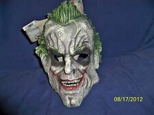 ADULT VIDEO GAME ARKHAM CITY JOKER 3/4 VINYL MASK COSTUME RU4863