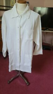Textured cotton creamywhite women's lite jacket large 3 pockets. cotton   nwot