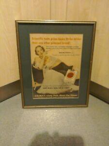 Framed Lucky Strike Advertising