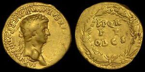 ANCIENT ROMAN CLAUDIUS GOLD AUREUS