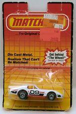 Matchbox No.40 Corvette T-Roof White Chevrolet 09 T-Top MOC Vintage c.1983