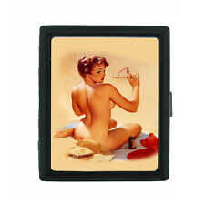 Metal Cigarette Case Holder Box Pin Up Girl Design-014 Sexy Vintage Classy Lady