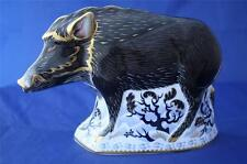 ROYAL CROWN DERBY THE WILD BOAR PAPERWEIGHT MMXIII - BRAND NEW / BOXED